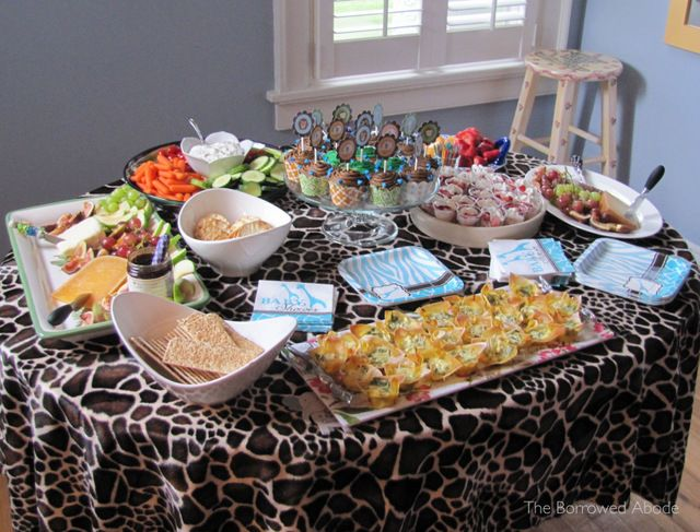 Safari Themed Baby Shower Food | Safari Theme Baby Shower & a Free Printable!The Borrowed Abode | The ...