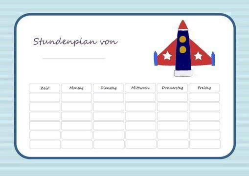 Stundenplan zum Selbstausdrucken - Datei via Makerist.de
