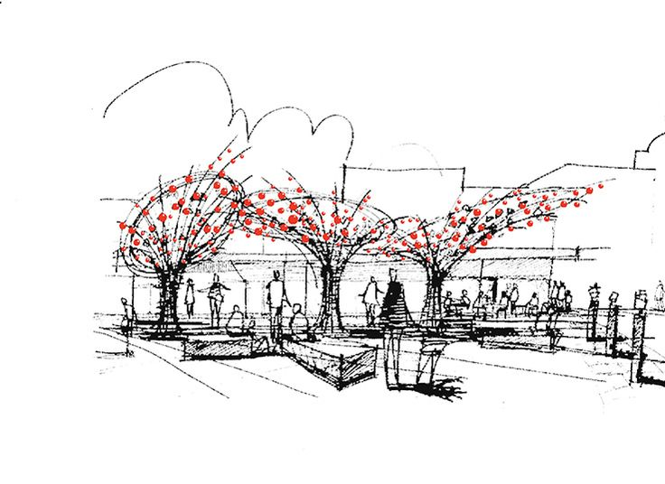 New Tree Sculptures for a pop up park. And at Christmas they'll get a canopy of big red baubles