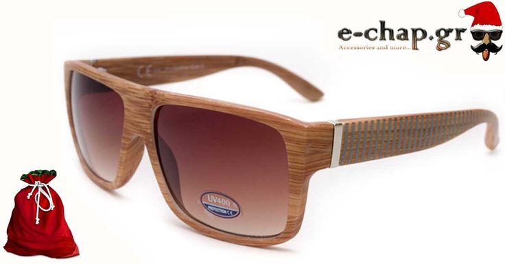 """Γυαλιά Ηλίου Wrap """"ACEROLA"""", για να είστε πάντα in fashion! Πλαστικός σκελετός σε χρώματα ξύλου με καφέ φακούς. Πιστοποίηση UV400 για 100% προστασία!"""