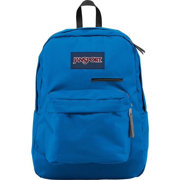 JanSport Digibreak Laptop Backpack- Sale Colors - Stellar Blue -... ($30) ❤ liked on Polyvore featuring bags, backpacks, blue, blue bag, backpack bags, jansport backpacks, blue rucksack and padded laptop backpack