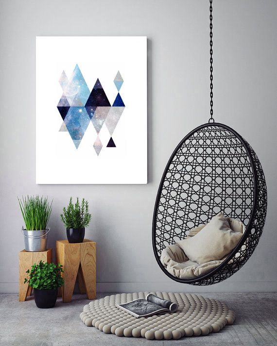 A unique twist on popular Scandinavian Art, incorporating galaxy textures to create a beautiful design for the home. Combine this print with the other Galaxy Designs by SlapDash to make a beautiful collection for Nurseries or as a galactic wall gallery in your home.  Home Decor, DIY Decor, Galaxy Art, Geometric Print, Geometric Art, Space Print, Star Print, Galaxy Wall Art, Space Decor, Scandinavian Printable, Galaxy Wall Decor