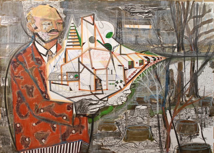 mayor with makette.JPG (2700×1934) #BetonTV, #contemporaryArt, #godotgaleria