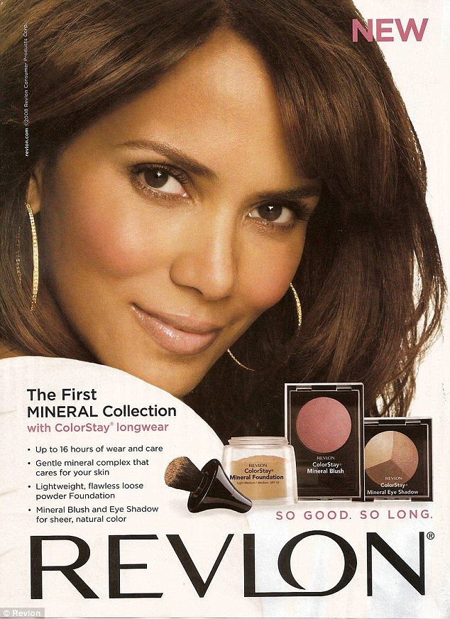 Gorgeous: Halle has been a longtime spokesmodel for the company