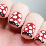 Step by step Minnie Mouse Nails