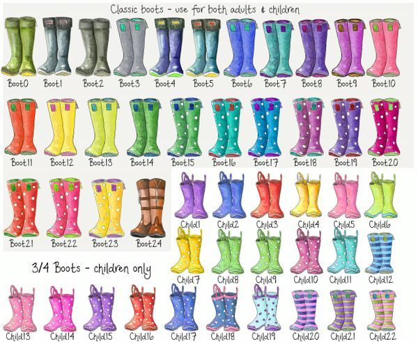 A The Original Welly Boot Family Print Wellies Boots