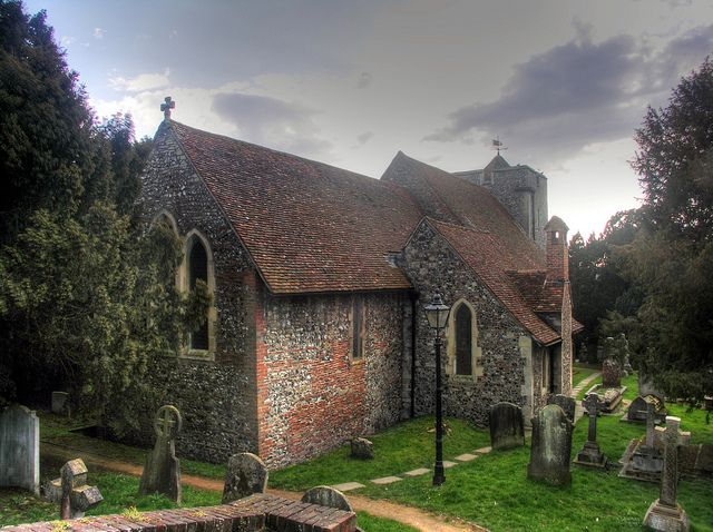 Oldest church in England still in use: since AD597 - St. Martin's Church, Canterbury, Kent -- quite unbelievable! || United Kingdom