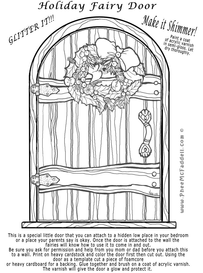 coloring pages of door - photo#47