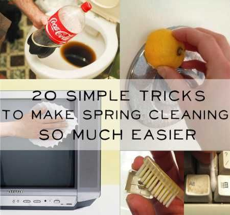Some more tricks to make Spring Cleaning easier