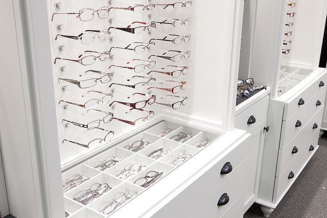 Optical Display Cases- I like how the frames have their own individual compartment