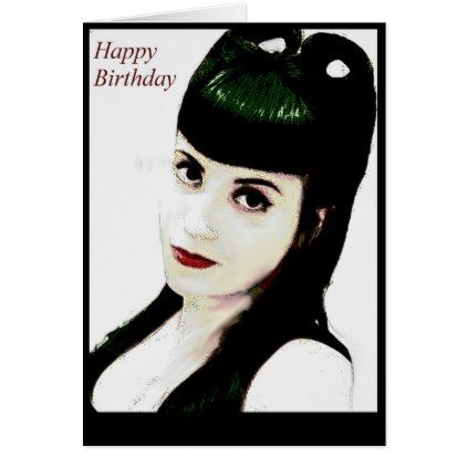 Psychobilly Pinup Happy Birthday Greeting Card - birthday gifts party celebration custom gift ideas diy
