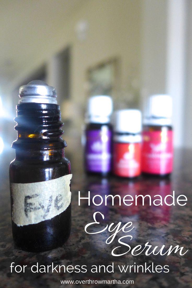 Homemade Eye Serum. Say goodbye to fine lines, dry eyes and dark circles! #yleo #essential oils #diybeauty