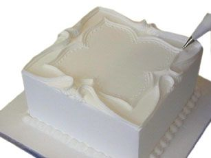 Royal Icing ... How to pipe a traditional wedding cake.