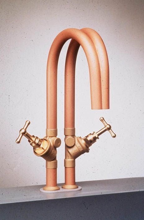 Dick van Hoff + copper taps + piping