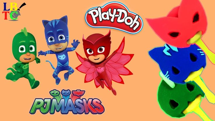 Play Doh PJ Masks Popsicles! With Catboy Owlette and Gekko! DIY PlayDoh ...