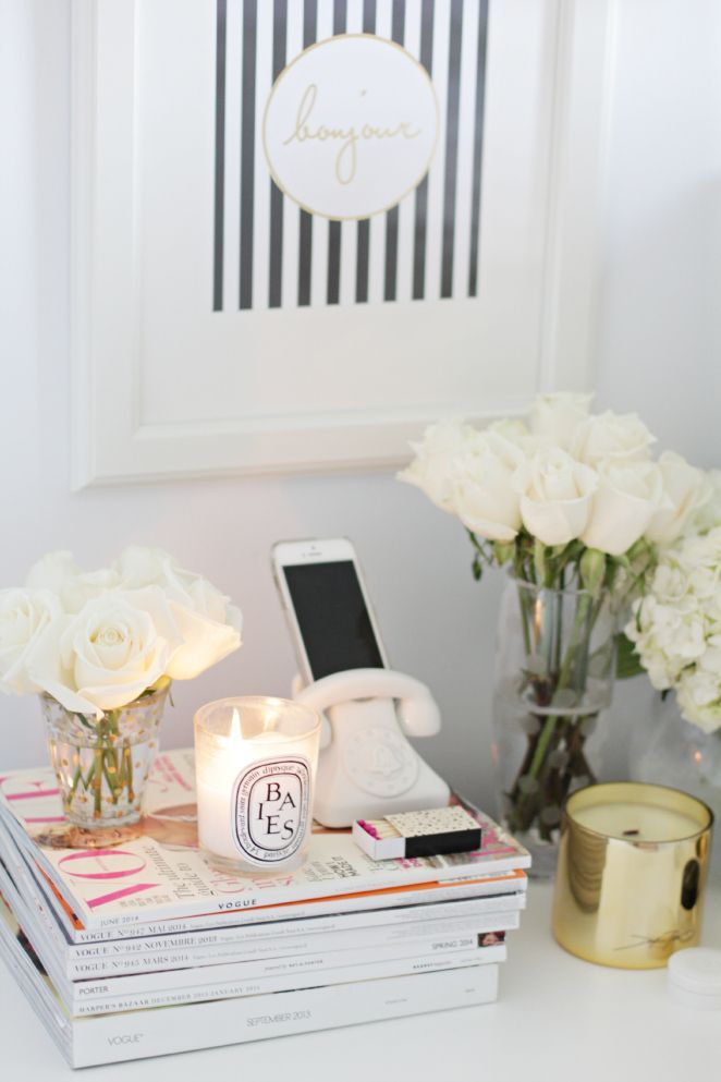 office decor inspiration. styled vignette for the home office decor inspiration