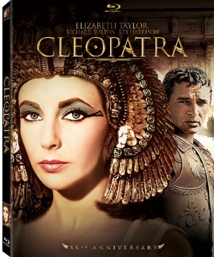 Elizabeth Taylor as Cleopatra.  Saw this movie in the Sapphire Theater in Chennai.  A big production and Liz was every inch as beautiful as Cleopatra was famed to be. This also had the big scandal of Taylor and Richard Burton falling in love and getting married- leaving their spouses.
