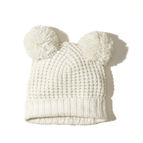 Hollister Pom Beanie ($20) ❤ liked on Polyvore featuring accessories, hats, cream, pompom hat, beanie cap hat, pom beanie, cream hat and pom pom hat