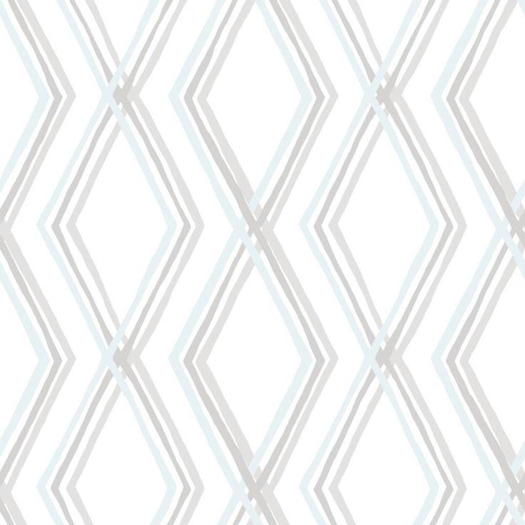 Salmiakki wallpaper, blue. Design Saara Eklund