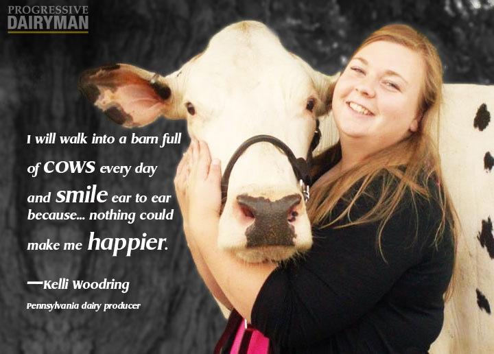 "Now this is a woman who enjoys her work. See the rest of Kelli Woodring's article ""Six truths herd managers should know"" at www.progressivedairy.com"