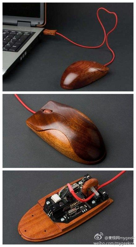 Enough of traditional mouse? Here we introduce you a wooden mouse, 100% hand grinding and polishing make the mouse looks really exquisite, eco-friendly, vintage and fashionable