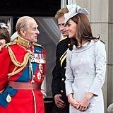 He, Kate, and Harry carried on a conversation on the Buckingham Palace balcony in 2012.