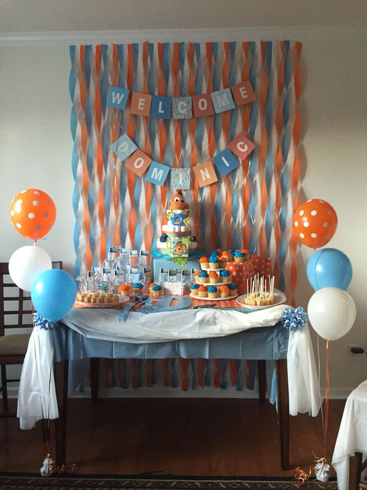 Love The Wall For Dessert/food Area. Find This Pin And More On Baby Shower  ...