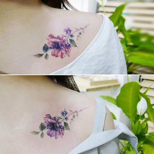 Friendship Anemone Flowers By Banul Cutebodytattoos Friendship Tattoos Violet Flower Tattoos Tattoos