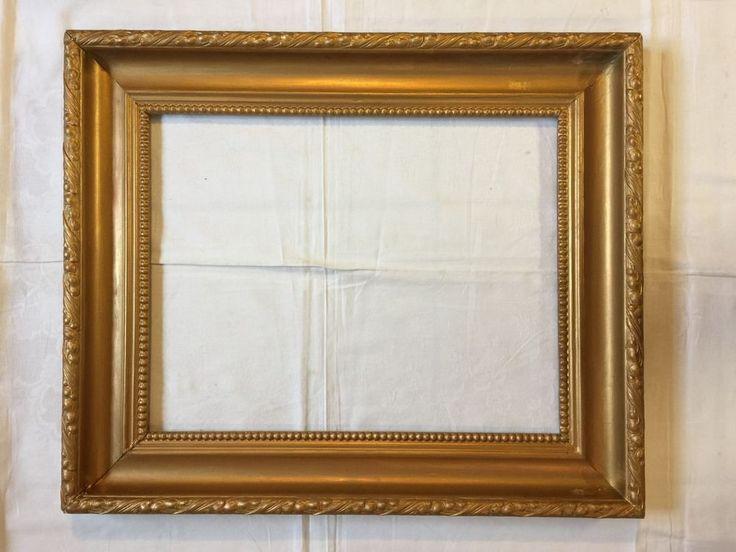 Bilderrahmen alt Spiegel gold farben Holz Stuck Frankreich um 1930