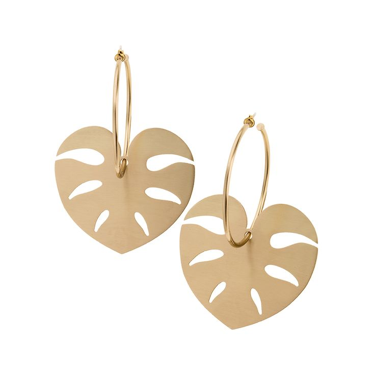 Leaf inspiration, earrings from INSECTS collection by Anna Orska.