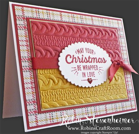 Cable Knit Dynamic Textured Embossing Folder #stampinup