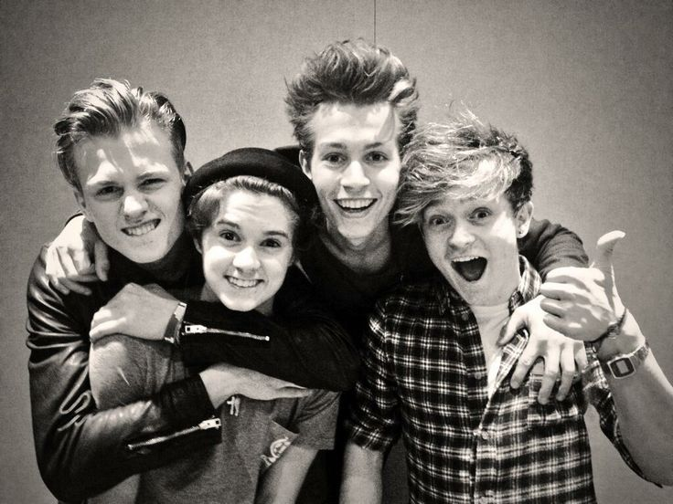 The Vamps! Such a cute band! Definitely the next big music act from England... This band is going places!