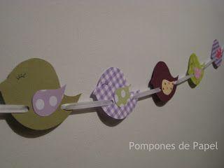Pompones de Papel: pajaritos a bailar...