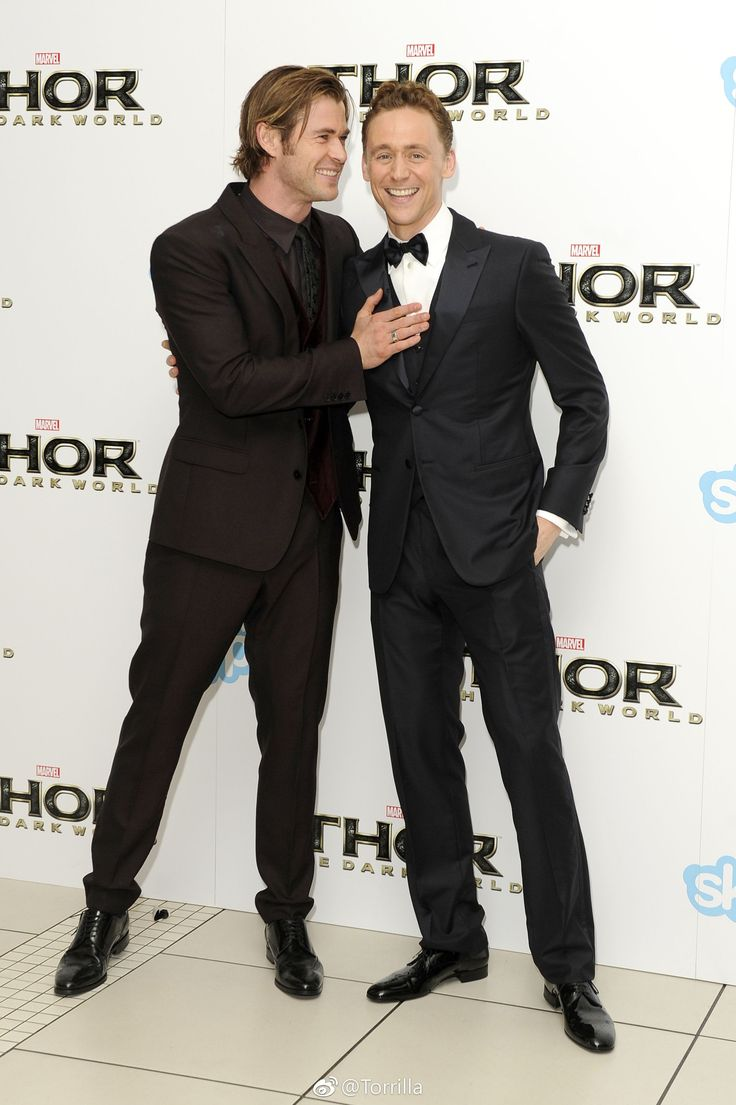Tom Hiddleston and Chris Hemsworth at the World Premiere of Thor: The Dark World, Odeon Leicester Square, London 22.10.2013 Via