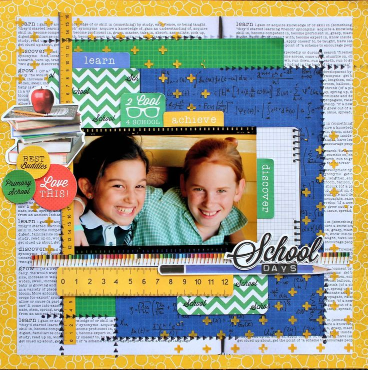 """""""School Days"""" by Cathy Cafun for Kaisercraft using their '2 Cool 4 School' Collection ~ Scrapbook Pages 1."""