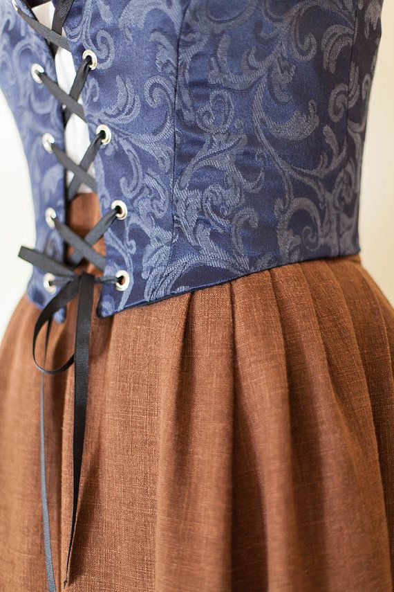 Renaissance Skirt Peasant Skirt Pirate Wench by SilverLiningSewing, $60.00