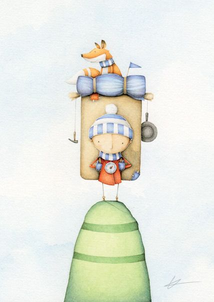 A collection of my watercolour and pencil illustration featuring children's book illustration, paintings and characters.