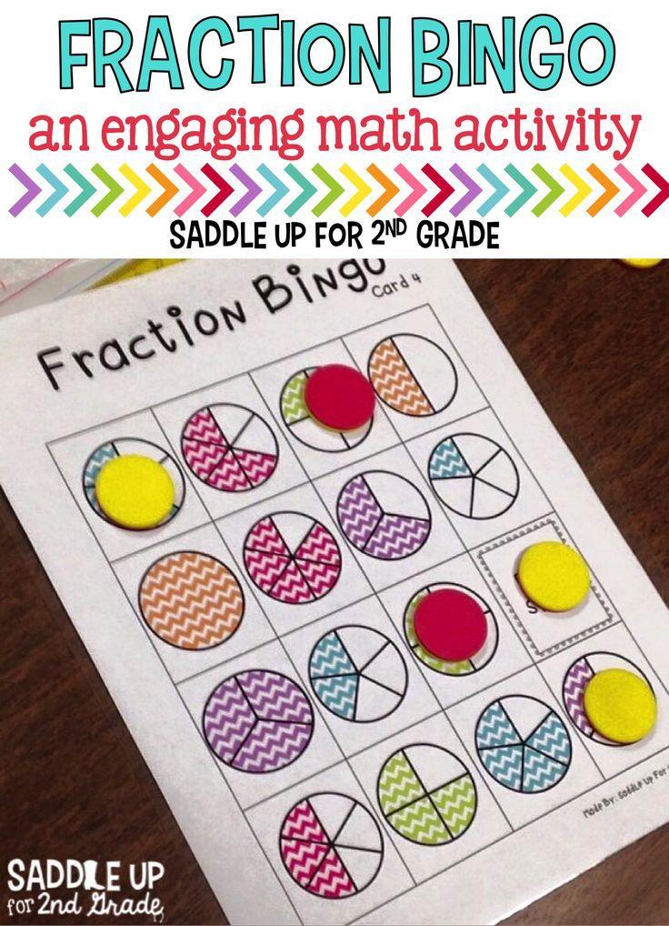 math worksheet : best 25 fraction bingo ideas on pinterest  math fractions  : Fractions For 2nd Graders Games