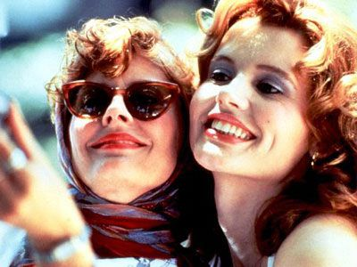 Thelma and Louise~Hope you have a friend you'd go over a cliff with.