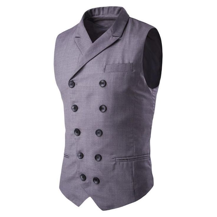 You will love this one: Men's Vest Double... Buy this now or its gone! http://jagmohansabharwal.myshopify.com/products/mens-vest-double-button-sleeveless-blazer?utm_campaign=social_autopilot&utm_source=pin&utm_medium=pin