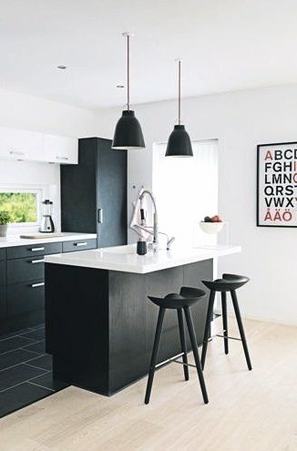 Via Bolig | Black and White | Kitchen | IKEA Poster | By Lassen