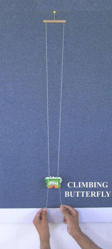 Butterfly Climbing Toy with string and wood
