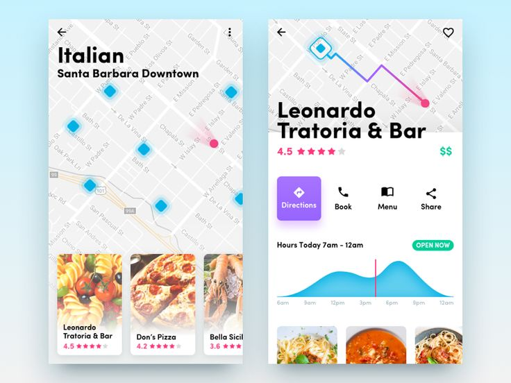 Restaurant App shared via https://chrome.google.com/webstore/detail/design-hunt/ilfjbjodkleebapojmdfeegaccmcjmkd?ref=pinterest