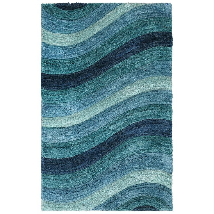 For Our Family Room    Larue Wave Shag Rugs   Teal | Pier 1 Imports
