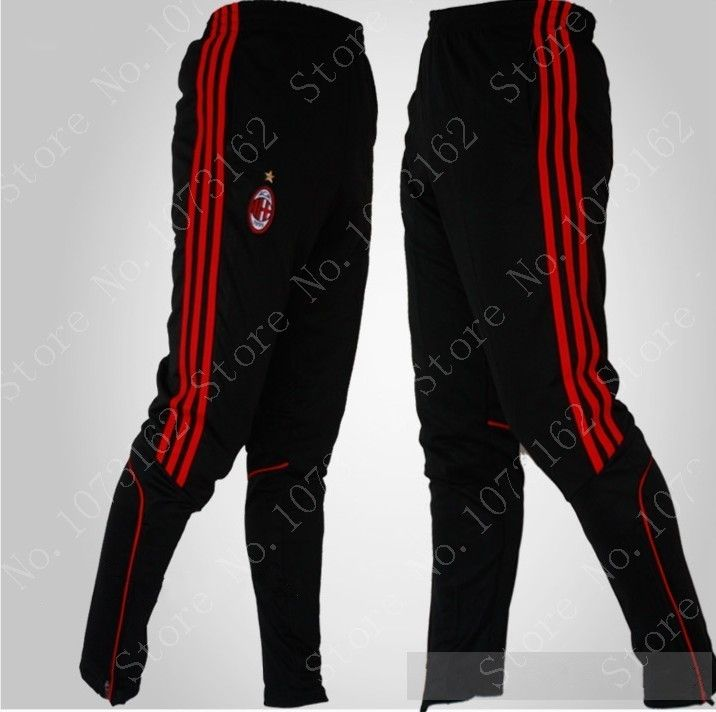 AC Milan Man Sports Pants Men Sweatpants Boy Soccer Football Trousers Sportwear Long Trousers Tights Gym Training Jog Athletic $27.50