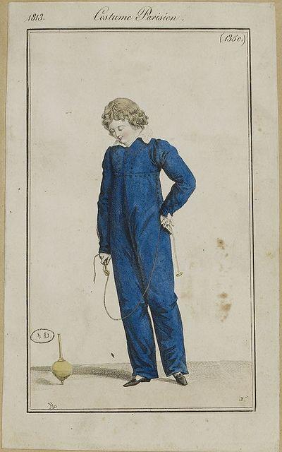 Boy's skeleton suit, Costume Parisien, 1813.