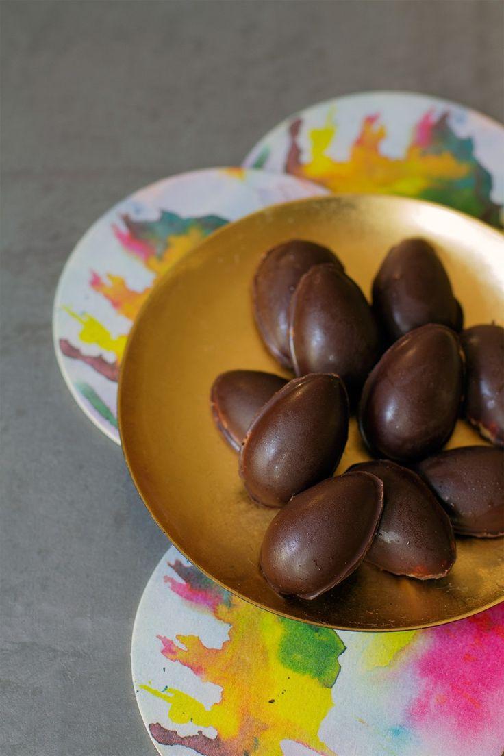 Dark Chocolate-Almond Butter Eggs | http://saltandwind.com | @saltandwind