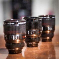 Espressokopjes in de vorm van cameralens - set van 3