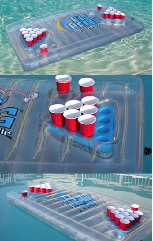 What a great idea for our camping trip in June - Floating beer pong!