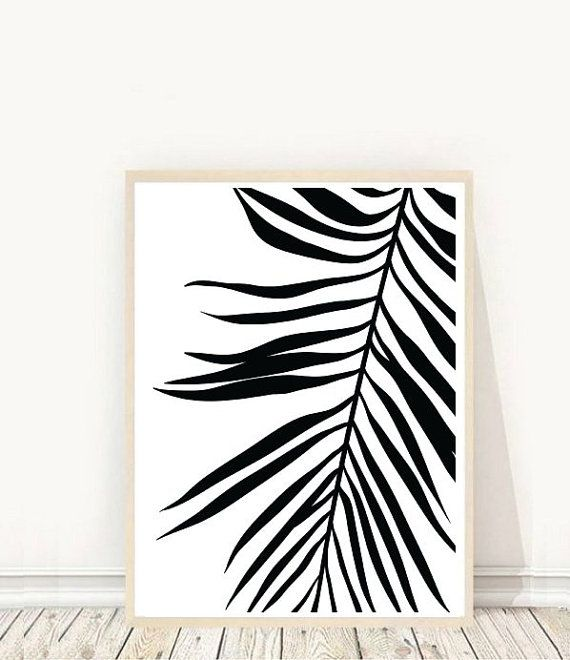 Prints from $7.92 on Etsy Palm Leaf Print Tropical Leaf Print Printable Art Palm Art